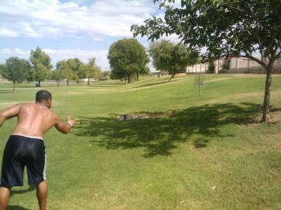 Vista Del Camino Park, Main course, Hole 5 Short approach