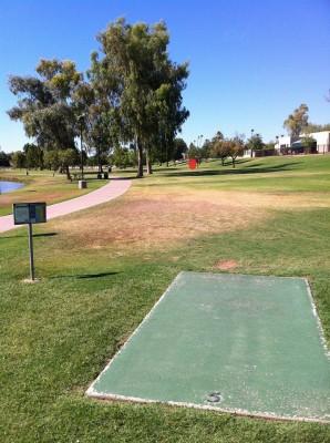 Vista Del Camino Park, Main course, Hole 5 Tee pad