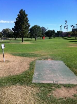 Vista Del Camino Park, Main course, Hole 13 Tee pad