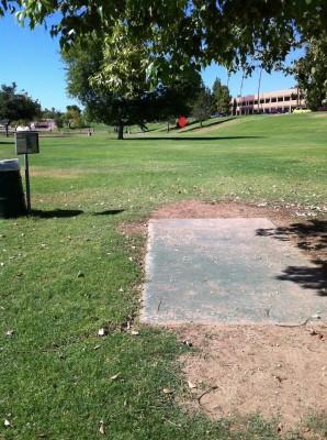Vista Del Camino Park, Main course, Hole 7 Tee pad
