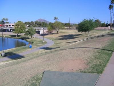 Vista Del Camino Park, Main course, Hole 8 Tee pad