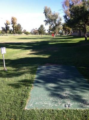 Vista Del Camino Park, Main course, Hole 17 Tee pad