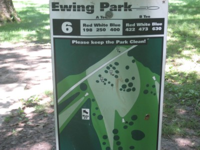 Ewing Park, Main course, Hole 6 Hole sign