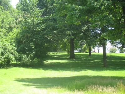 Ewing Park, Main course, Hole 9 Long tee pad