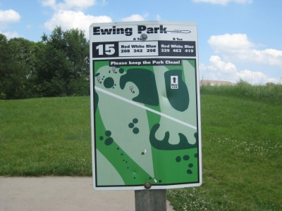 Ewing Park, Main course, Hole 15 Hole sign