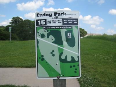 Ewing Park, Main course, Hole 15 Hole sign
