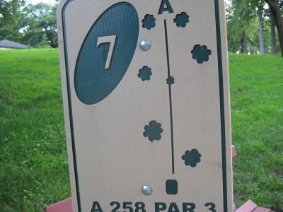 Grandview Park, Main course, Hole 7 Hole sign