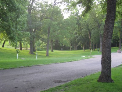 Grandview Park, Main course, Hole 2 Long tee pad