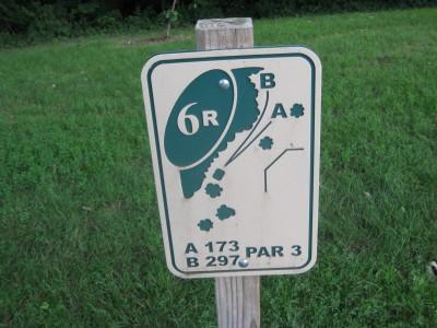 Grandview Park, Main course, Hole 6 Hole sign