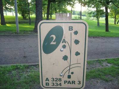 Grandview Park, Main course, Hole 2 Hole sign