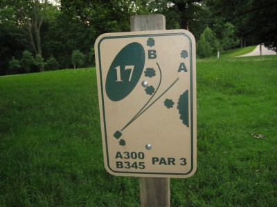 Grandview Park, Main course, Hole 17 Hole sign