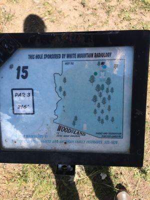 Wood Land, Main course, Hole 15 Hole sign