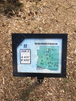 Wood Land, Main course, Hole 11 Hole sign