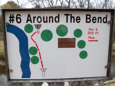 Snell-Crawford Park, Main course, Hole 6 Hole sign