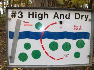 Snell-Crawford Park, Main course, Hole 3 Hole sign