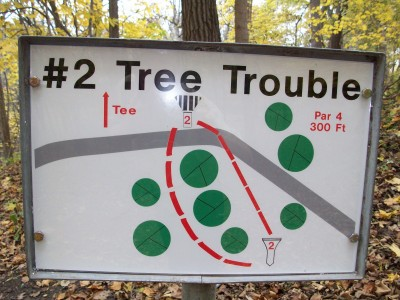 Snell-Crawford Park, Main course, Hole 2 Hole sign
