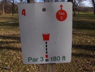 Sheldon Park, Main course, Hole 4 Hole sign
