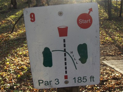 Sheldon Park, Main course, Hole 9 Hole sign