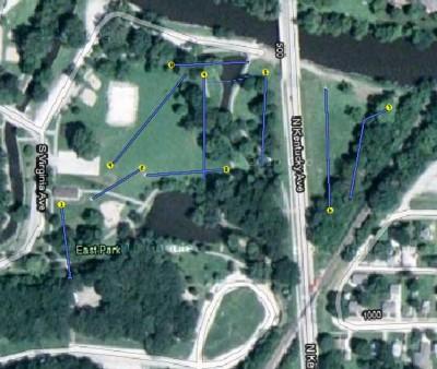 East Park, Main course, Hole 1