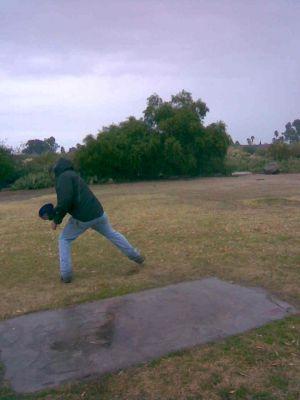 Groves Park, Main course, Hole 9 Tee pad