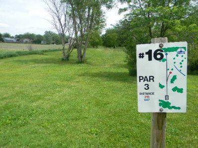 Fuller Park, Main course, Hole 16 Hole sign