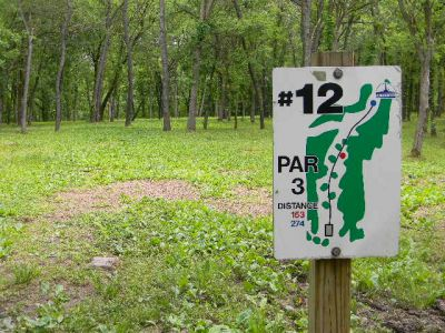 Fuller Park, Main course, Hole 12 Hole sign