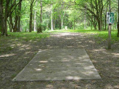 Fuller Park, Main course, Hole 8 Tee pad