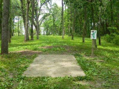 Fuller Park, Main course, Hole 13 Tee pad