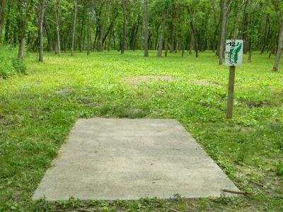 Fuller Park, Main course, Hole 12 Tee pad