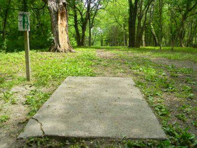 Fuller Park, Main course, Hole 15 Tee pad