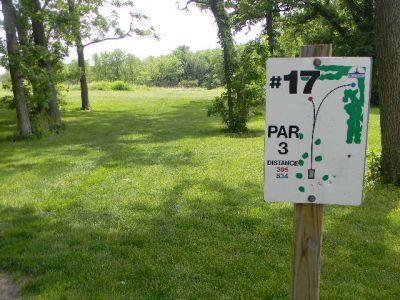 Fuller Park, Main course, Hole 17 Hole sign