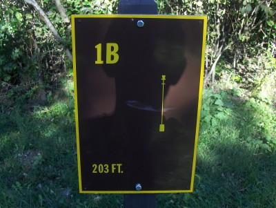 Big Creek State Park, Main course, Hole 1 Hole sign