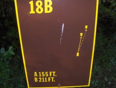 Big Creek State Park, Main course, Hole 18 Hole sign