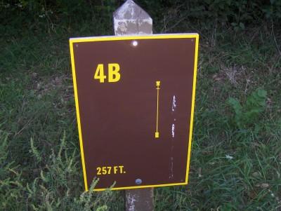 Big Creek State Park, Main course, Hole 4 Hole sign