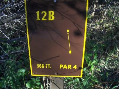 Big Creek State Park, Main course, Hole 12 Hole sign