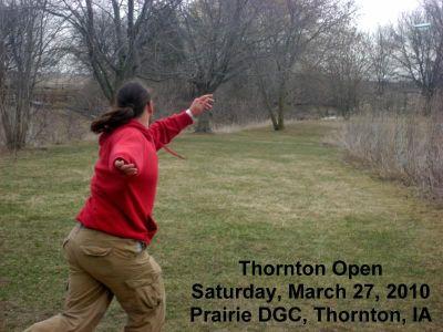 Prairie DGC, Main course, Hole 4 Tee pad