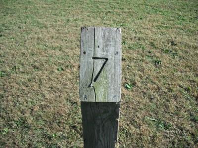 Brookwood Park, Main course, Hole 7 Hole sign