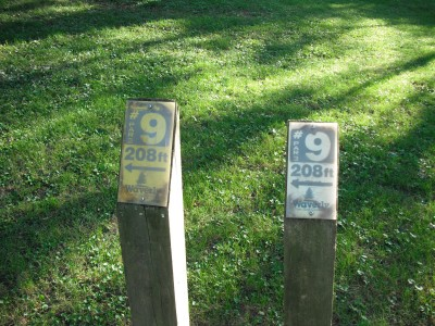 Brookwood Park, Main course, Hole 9 Hole sign