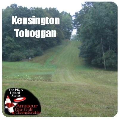 Kensington Metropark, Toboggan Course, Hole 2 Tee pad