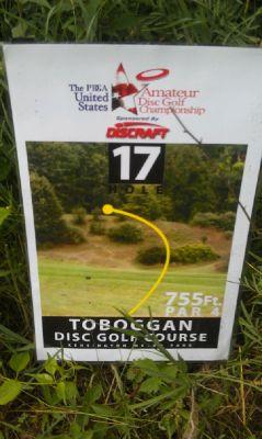 Kensington Metropark, Toboggan Course, Hole 17 Tee pad