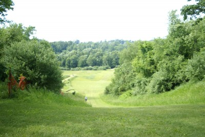 Kensington Metropark - Toboggan Course, Toboggan Course, Hole 3 Tee pad