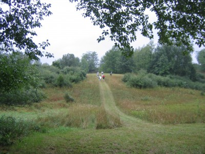 Kensington Metropark - Toboggan Course, Toboggan Course, Hole 9 Tee pad