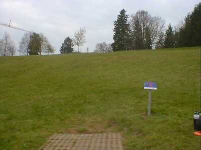 Discgolf Parcours Söhnstetten, Main course, Hole 10 Tee pad