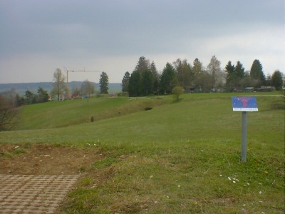 Discgolf Parcours Söhnstetten, Main course, Hole 3 Tee pad
