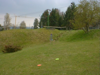 Discgolf Parcours Söhnstetten, Main course, Hole 3 Short approach