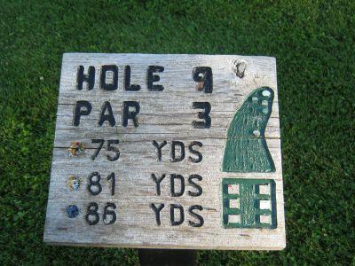 Park 96, Main course, Hole 9 Hole sign
