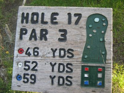 Park 96, Main course, Hole 17 Hole sign