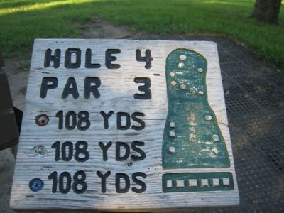 Park 96, Main course, Hole 4 Hole sign