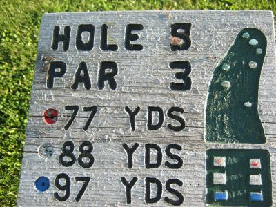 Park 96, Main course, Hole 5 Hole sign