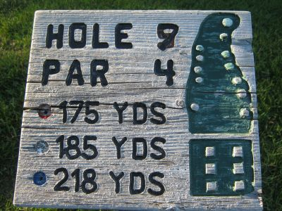Park 96, Main course, Hole 7 Hole sign